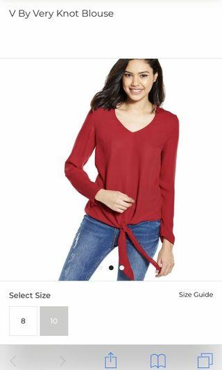 Red Knot blouse