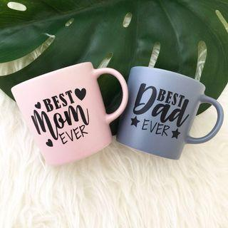 Best Mom Ever and Best Dad Ever personalised Mug personalised gift couple gift set Father's Day gift Mother's Day gift anniversary gift for parents birthday gift Wedding gift personalised cup