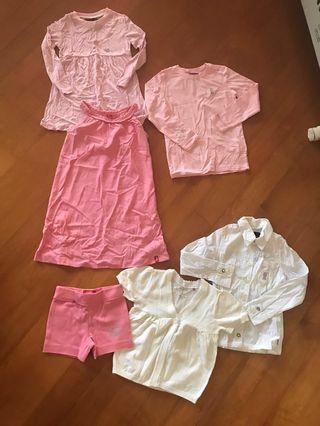 Esprit 4-5歲女童衫 共6件 (100%新!靚料)