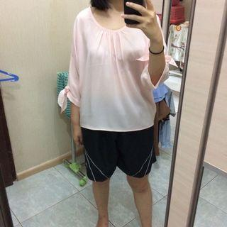 Nude pink batwing blouse