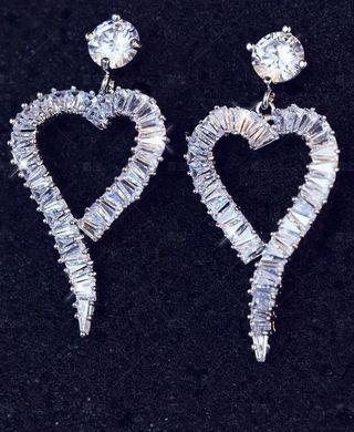 鋯石銀針耳環 Earrings 明星同款