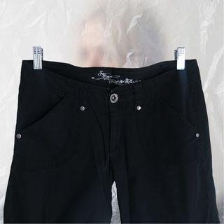 🚚 【全館八折低價出清-7成新】黑色休閒長褲