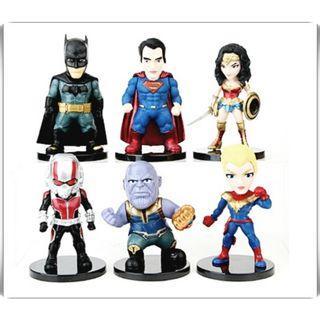 漫威 復仇者聯盟 正義聯盟 神力女超人/蝙蝠俠 公仔 模型