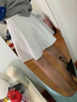 A&F白色花朵蕾絲超顯瘦A字裙半身裙短裙Abercrombie & Fitch white lace skater skirt dress AF Hollister HCO AEO