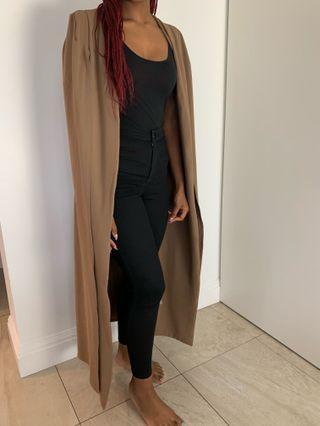 Brown sleeve cut coat