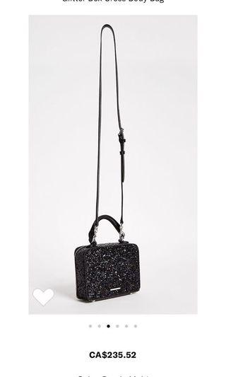 New Rebecca Minkoff Glitter box Crossbody bag