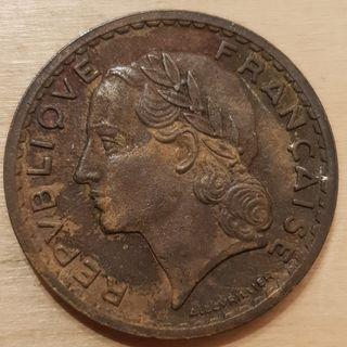 1946 Republic of France 5 Franc Coin