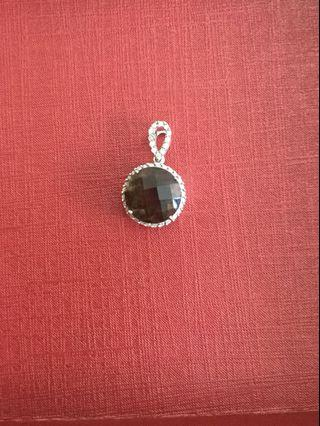 Lee hwa smoky quartz pendant