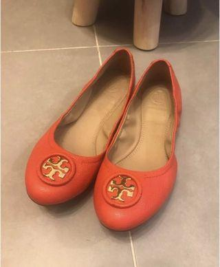 Tory Burch 平底鞋 Tory Burch ALLIE Wrapped Logo Ballet Flats nib  Shoes  size 6.5 = 平時37