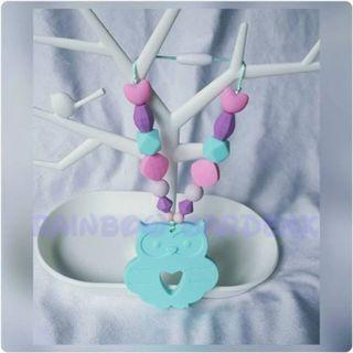 Handmade Owl Teether with beads Carrier Accessory