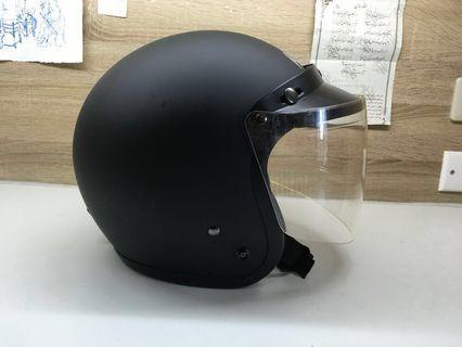 ninja忍者安全帽 霧面黑 內建墨鏡🕶️