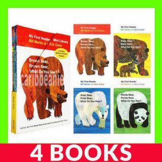 Eric Carle My First Reader Bear Books Set - 4 Books