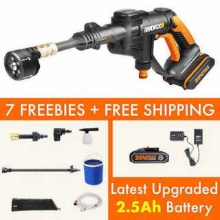 🚚 [Upgraded 2.5Ah Battery] Worx Hydroshot Portable Car Washer with 2.5Ah Battery WG629E