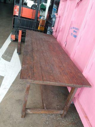 Long Wooden Table - 8ft x 3ft