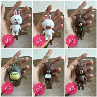 Line friends Brown and cony /Totoro keychain