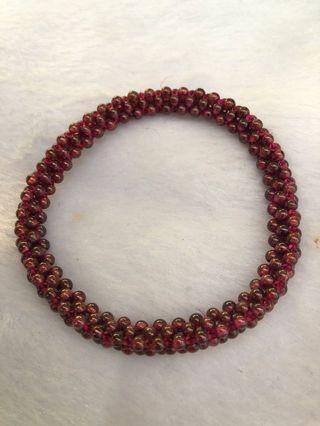 石榴石手链 garnet bracelet