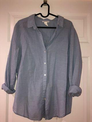 H&M boyfriend style shirt size 42 or 170