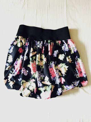Floral Miniskirt XS