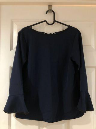 Japanese brand navy blouse size M