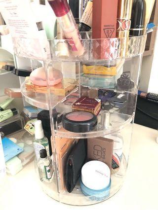 Cosmetic Storage Rak Acrylic muter