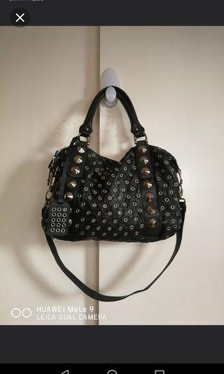 Givenchy metal studded leather bag