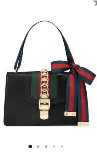 Gucci Sylvie Handbag in Black