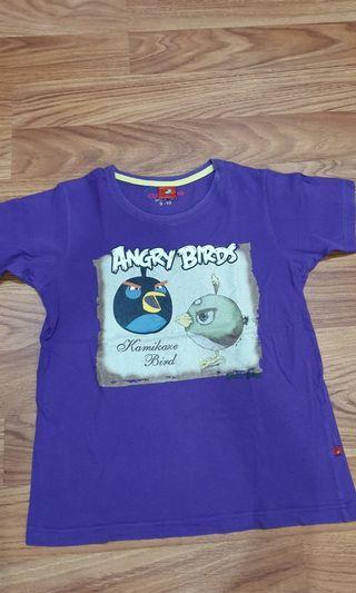 Kaos ungu Angry bird