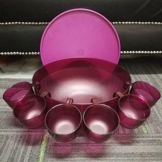 Tupperware Punch Bowl with 10 cups
