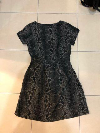 Zara woman python/snake print dress