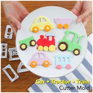 🚘 CAR • TRACTOR • TRAIN CUTTER MOLD SET
