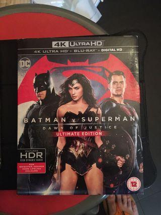 Batman vs superman 4K + Blu-ray (英版中字)