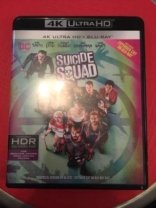 Suicide squad 自殺特攻隊 4k + Blu-ray (行版中字)