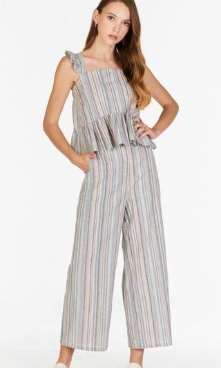 The Closet Lover Tarin Linen Stripes Pants