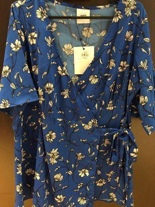 🚚 Brand New Maternity Wrap Kimono Sleeve Top