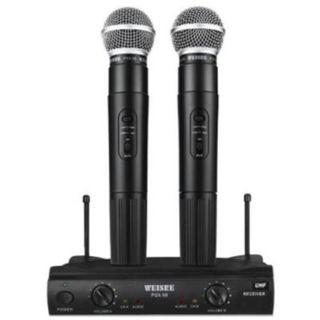 WEISRE PGX 58 Professional UHF Dual Wireless Microphone Mic System for Karaoke Party KTV