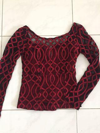 Backless formal top #mauvivo
