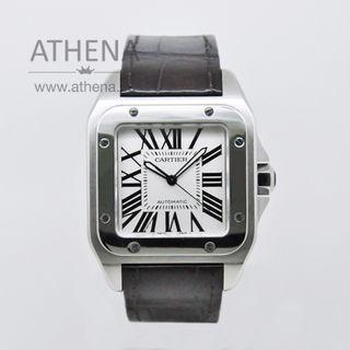 CARTIER SANTOS 100 XL AUTOMATIC W20073X8 WITH BOX & CERT  WLWCT_040