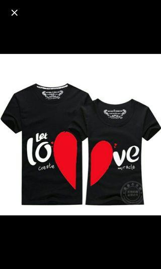 (NO INSTOCKS!)Preorder unisex Couple love t-shirt* waiting time 15 days after payment is made*chat to buy to order