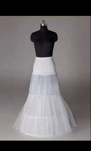 Instock Petticoat Wedding Evening Dress