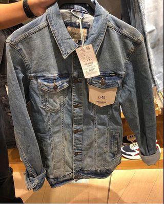 Denim jacket pull and bear