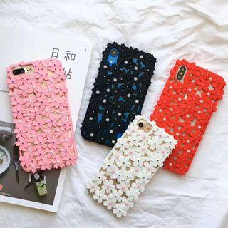 Flower floral pearl silicone iphone 6 7 8 plus X XR XS Max