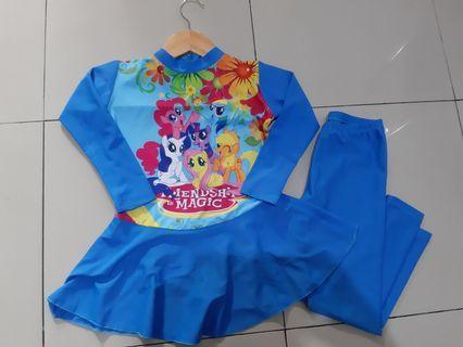 Baju Renang My Little Pony Panjang tanpa Jilbab