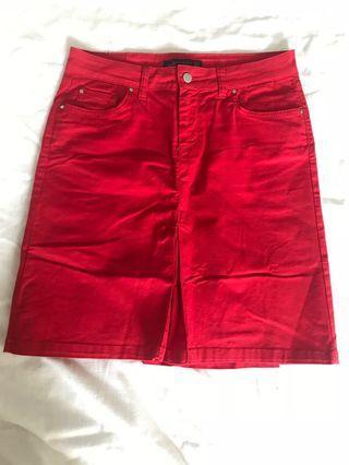 Zara Skirt in Red