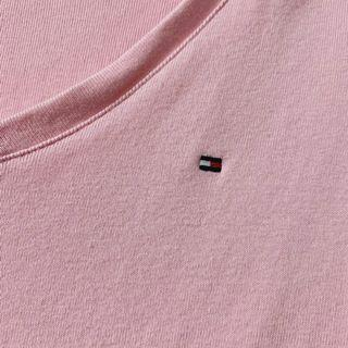 🚚 Tommy刺繡logo粉色短t