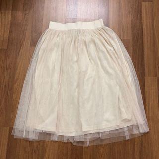 Tulle Beige Skirt