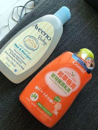 Aveeno Baby wash and shampoo and Combi lotion