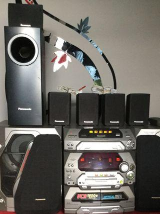 6 Panasonic Surrounded Sounds Speakers Systems