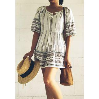 REPRICED!!! Boho summer Beach mini dress