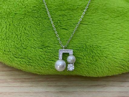 🚚 正生925純銀 珍珠音符項鍊