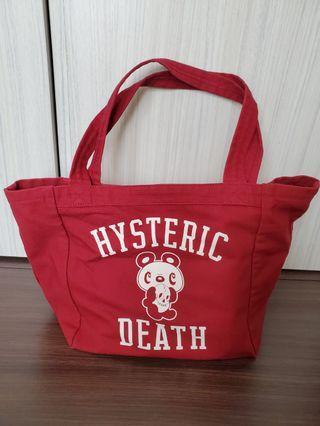 Hysteric Glamour 深紅色手挽袋 (真品)